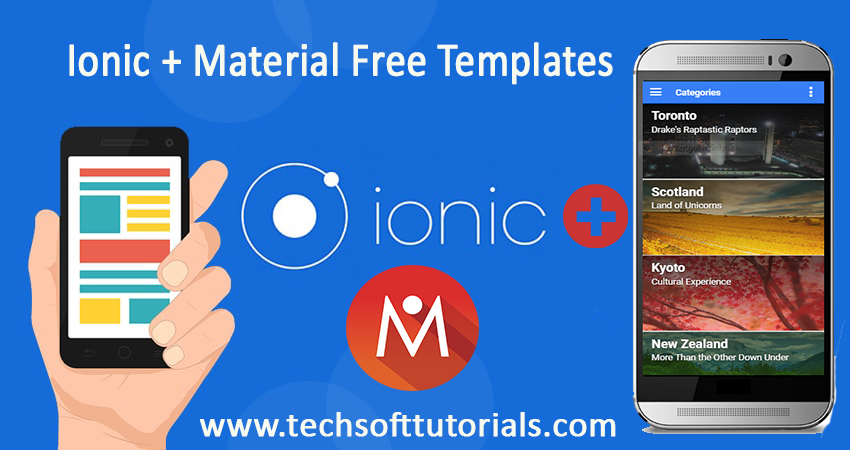 Free Ionic Material Design Themes 2016 - Techsoft Tutorials